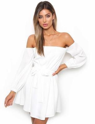 Fiesta Blanco De Mujer Fiesta Para Vestido Para Vestidos Chiffon De Vestido Vestido Hombro JIALELE Correa Mujer 5TnZqwpq