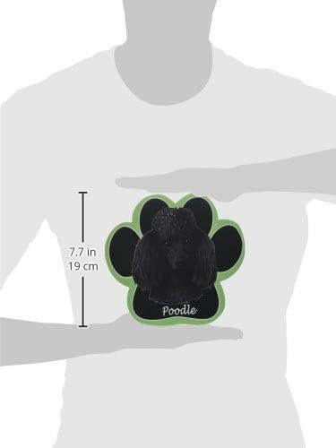 Black Poodle Non Slip Paw Shaped Mouse Pad