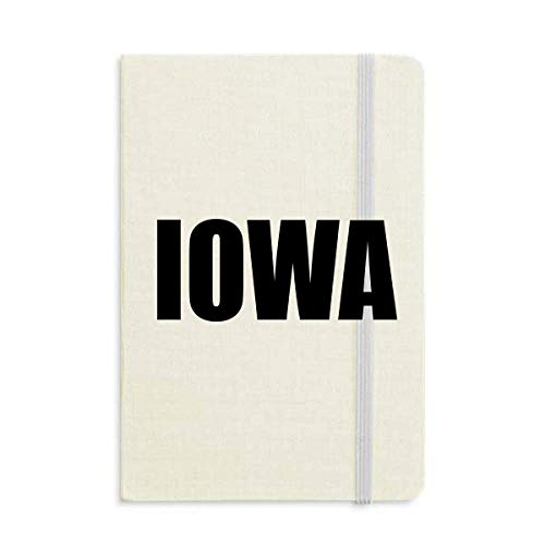 Iowa America City Notebook Hard Cover Classic Journal Diary A5 Gift ()