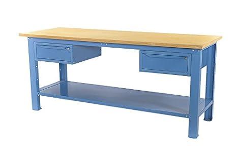 Banco Di Lavoro Con Cassetti : Banco da lavoro mt con piano in legno cassetti serie