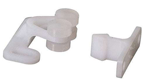1.234'' Long x 0.5516'' Wide x 0.4964'' High, Plastic Double Roller Style Catch pack of 200