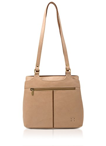 Bone Colourblock Shoulder Zipped Bag mbrn Leather IFHrI