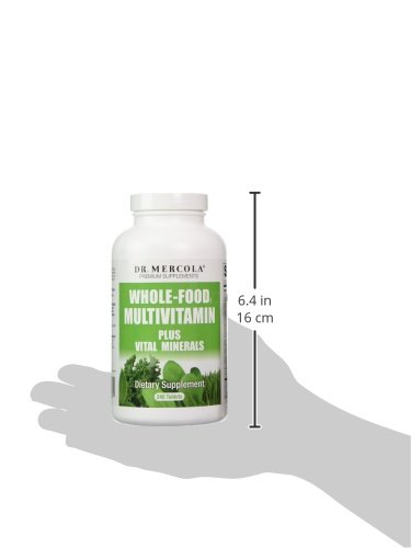 Dr. Mercola Whole-Food Multivitamin Plus Vital Minerals, 30 Servings (240 Tablets), non GMO, Soy-Free, Gluten-Free