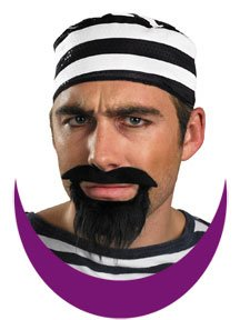 Disguise Costumes Prisoner Mustache & Beard, Adult -