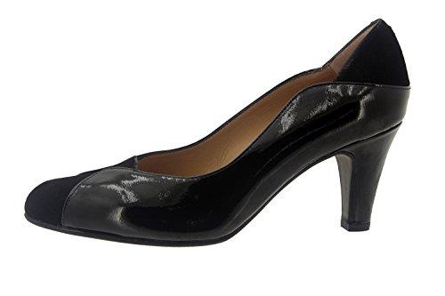 Calzado mujer confort de piel Piesanto 7205 zapato salón vestir cómodo ancho Negro