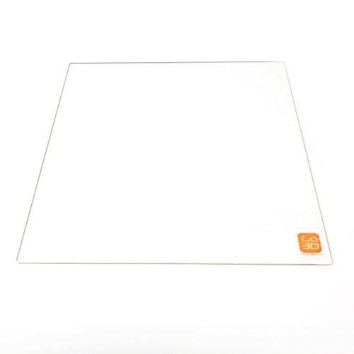 310mm x 310mm Borosilicate Glass Plate/Bed w/Flat Polished Edge for 3D Printer by GO-3D PRINT