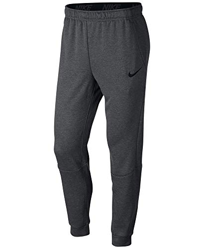 Nike Mens Tapered Therma Training Sweatpants (Medium, Carbon Gray/Black)