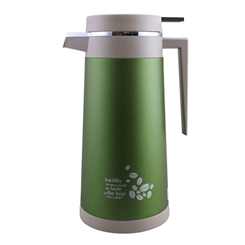 - Vacuum-Insulated Can Single-Hand Pouring-System Coated Stainless Steel Glass Liner Household Insulation Pot 1.3L /1.6L(gray) (color : Green, Size : 1.3L)