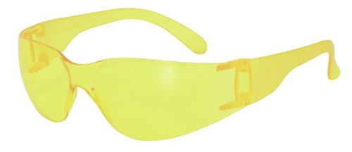 SSP 13255 Pro Unisex Recyclable Safety Glasses with Amber Lenses and Frosted Amber Temples