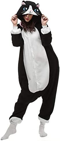 Lorenory Pijamas de animales de gato negro Pijamas para ...