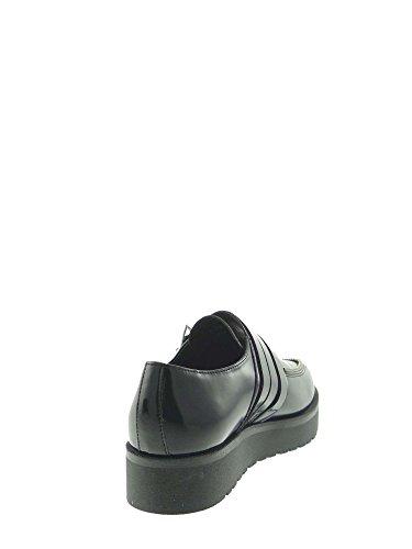 Applicate A Logato Decorativa Scarpe Donna Tomaia Gomma Di Pattina Cult Arricchita Fibbie Nere Con Clip Cerniera Fondo Chiusura Sulla E Pelle In O8w1AZqx