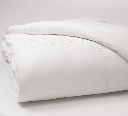 Hudson Park Italian Percale King Duvet Cover White / White