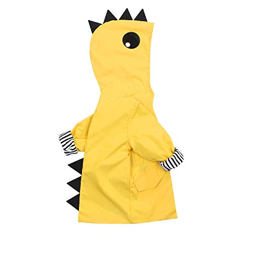 Kids Boy Girl Animal Raincoat Cute Jacket Hooded Outwear Baby Fall Winter School Oufits (Yellow #2, 100 ()