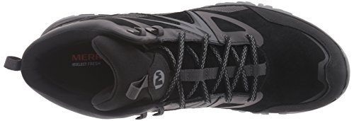 MERRELL Capra Bolt Leather Mid Chaussures Homme, Noir, 46.5