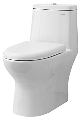 Swiss Madison Ivy One Piece Elongated Toilet Dual Tornado Flush 0.8/1.28 GPF (Soft Closing Quick Release Seat Included)