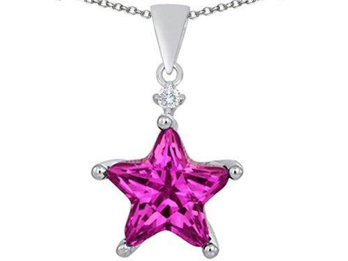 Star K Sterling Silver Large 14mm Fancy Star Pendant Necklace