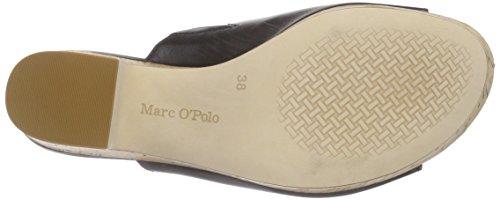 Marc O'Polo Wedge Sandal - Sandalias con plataforma Mujer Negro - Schwarz (black 990)