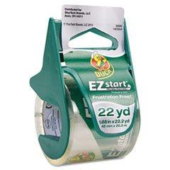 (- EZ Start Carton Sealing Tape/Dispenser, 1.88quot; x 22.2yds, 1 1/2quot; Core )