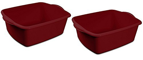 (Sterilite 06575812, 12-Quart Dish Pan, 2-Pack,)