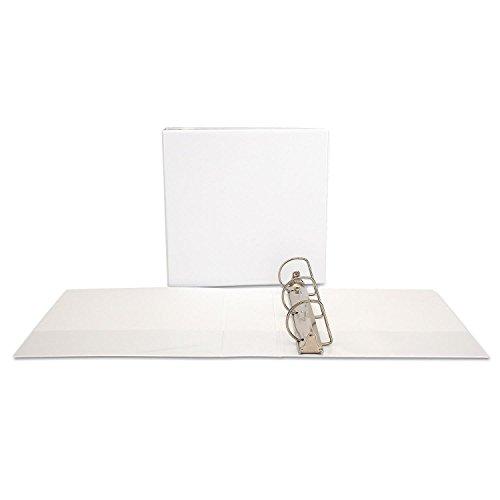 Office Impressions Economy D-Ring Vinyl View Binder, 3 Inch Capacity, White (82252) Economy D-ring Vinyl View Binder