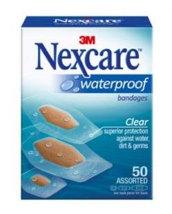 Nexcare Waterproof Bandage, Assorted Size, Clear