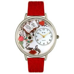Whimsical Watches Unisex U0460003 Love Story Red Leather Watch by Whimsical Watches (Image #1)