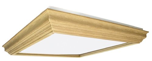 Lighting by AFX UCM2U3R8 Winchester Crown Molding Wood Frame 2-Lamp Fixture with U-Bent T8 Lamps, Unfinished with Smooth White Acrylic Diffuser Review