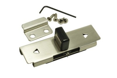 Glen Products Inc Slide Latch & Keeper W/Fasteners stamped stainless steel