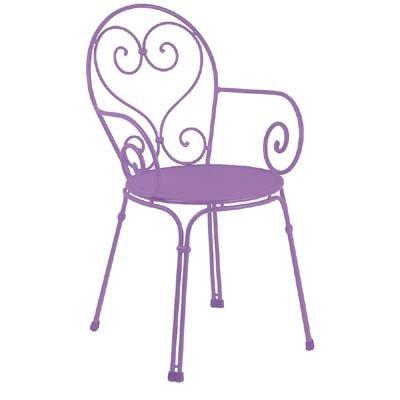 EMU Armlehnstuhl Pigalle Lila (4-er Set)