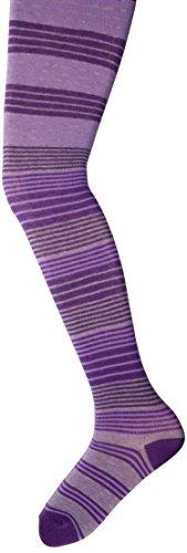 Jefferies Socks Big Girls'  Cotton Stripe Tights, Purple, 8-10 Years