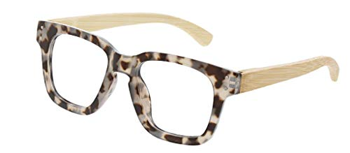(Peepers Women's Coffee Shop 2583150 Square Reading Glasses, Gray Tortoise & Wood, 1.5)