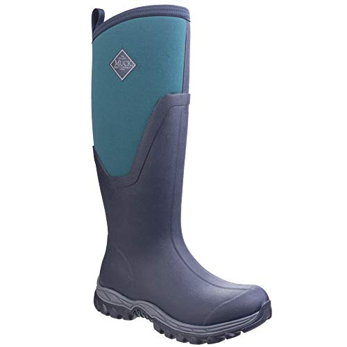 Muck Boots. Womens/Ladies Arctic Sport Tall II Pull On Wellington Boots (9 US, Navy/Spruce)