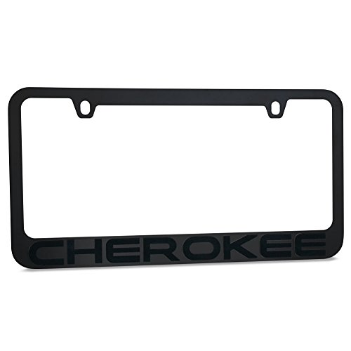 Jeep Cherokee Stealth Blackout License Plate Frame