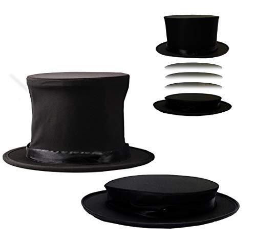 Costume Hats - Top Hat - Magician Costume - Collapsible Black Hat Magic Trick by Funny Party Hats -