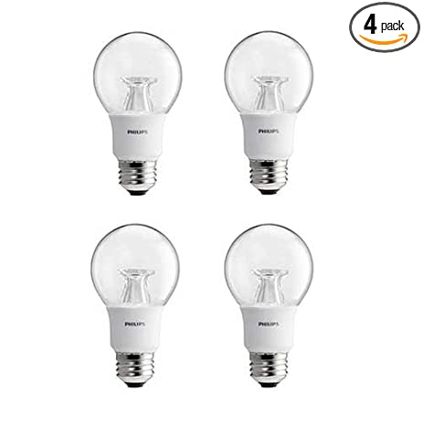 Philips LED Dimmable A19 Soft White Light Bulb With Warm Glow Effect  800 Lumen,