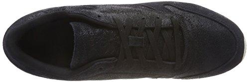 Reebok Classic Leather Shimmer, Zapatillas Para Mujer Negro (Black/Chalk 000)