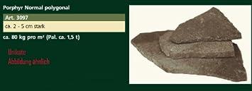 Ca Tonnen Porphyr Normal Polygonal Steinplatten Ca Kgm² - Steinplatten 2 cm stark