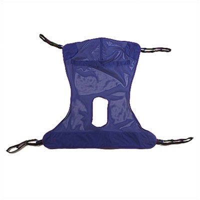 Invacare Full Body Sling with Commode Opening, Large, Polyester, R114 ()