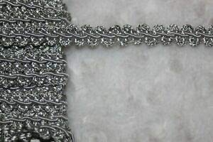 1.25 Yard Light Gray Gimp Rosebud Upholstery Sewing Trim 3/8