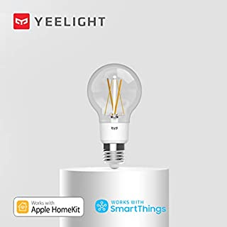 Yeelight Smart Edison LED Bulb, Smart Vintage Bulb, Classic Bulb Design, 2700K 6W Dimmable and Tunable White Light Bulb, Compatible with Alexa & Homekit and Google Home Assistant, No Hub Required