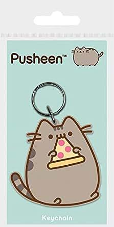 Pusheen Pizza Keyring