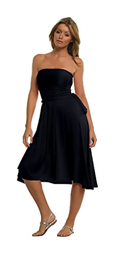Elan International Ladies 8-way Convertible Black Dress, Medium