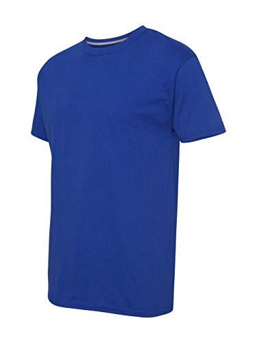 Hanes Men's X-Temp Crewneck Short-Sleeve T-Shirt (Small), Deep Royal ()