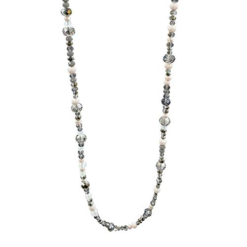 (Karen accessories Fashion Long Beaded Necklace Handcrafted Crystal Beads Strands Necklace (Style 2))