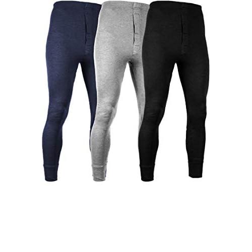 Andrew Scott Womens 2 Pack Long Thermal Fleece Cotton Legging Pants