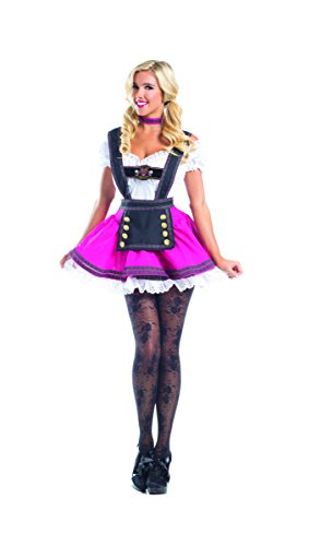 Adult Women's 3 Piece Sexy Swiss Chick Halloween Party Costume -