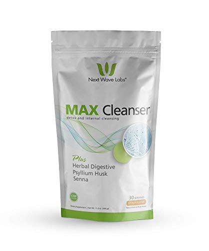 Next Wave Labs Max Cleanser, Herbal Digestive, Psyllium Husk, Aloe Vera, Chia, Flax, Enzymes, Acidophilus, Natural Detox, Internal Cleansing 30 Servings - Psyllium Herbal Combination Powder