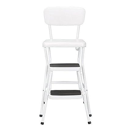 Strange Amazon Com Cosco Retro White Counter Chair Step Stool Unemploymentrelief Wooden Chair Designs For Living Room Unemploymentrelieforg