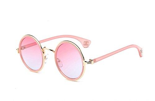 Glasses 8 Sun Color Round polarizadas Retro Sol de Frame 11 Gafas Classic Metal Unisex Yxsd gqPFw