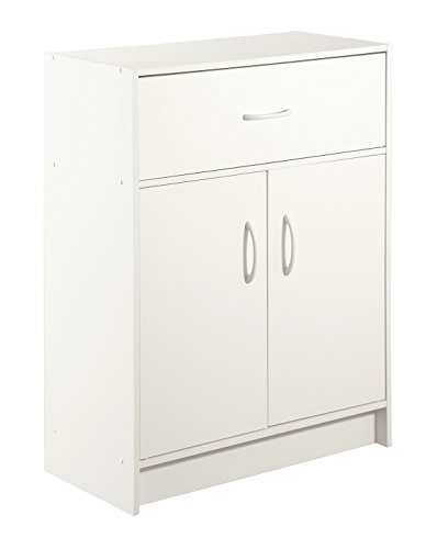 2-Door with Drawer Organizer, White by Simply Built